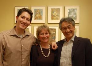 Eleanor Kotlarik Wang, her husband and their son