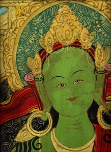 Green Tara Thangka Photo by Keri Douglas (Please contact for permission to use)