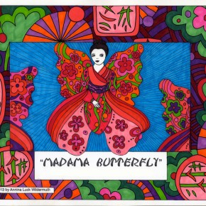 Madama Butterfly Coloring Activity for Children by Annina Luck Wildermuth