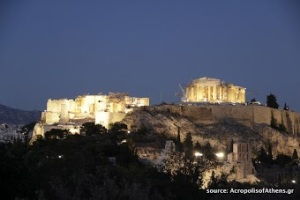 The Acropolis at Night. Photo used with copyright permission from photographer Nikolaos Chatziandreou, AcropolisofAthens.gr