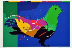 Portrait de l'Oiseau-Qui-n'Existe-Pas by Dia Al-Azzawi