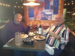 Author Terry Douglas (my father) and family friend Fred Jenkins at Yianni's Casual Greek Restaurant in Virginia Beach, VA