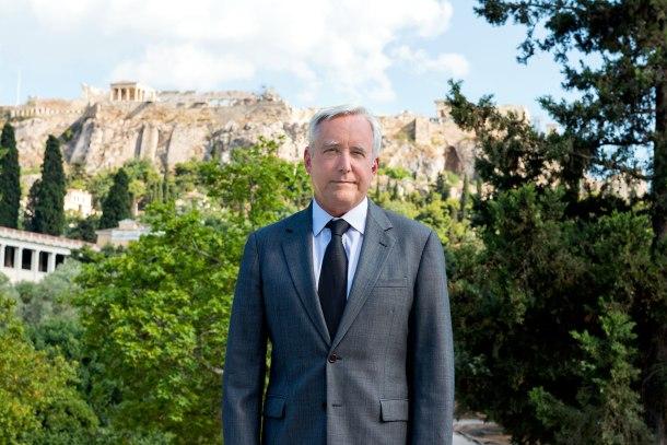 Artist Ambassador David D. Pearce at the Acropolis, Athens, Greece