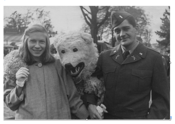 Anne and Paul Dillon at a fair in Kempten, outside of Munich, Germany, 1951