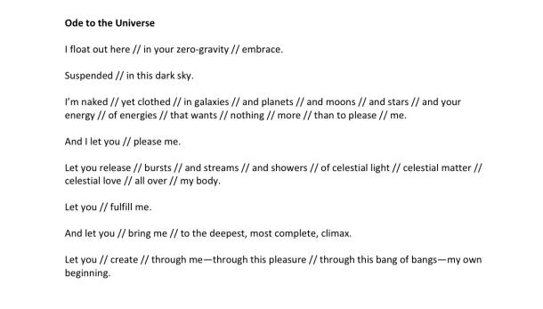 Ode to the Universe (6)
